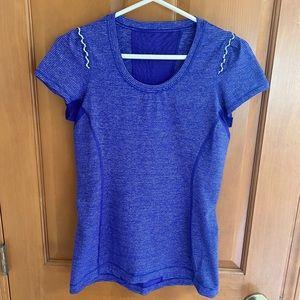 Lululemon Tops | Short Sleeve Blue Shirt